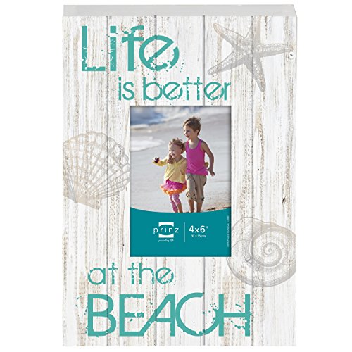 """Prinz """"Life is Better at the Beach"""" Wood Box Sign with Photo"""