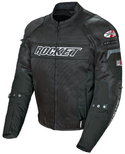 Joe Rocket Resistor Men's Mesh Motorcycle Jacket (Black/Black, XX-Large) - Mens Mesh Street Motorcycle Jackets