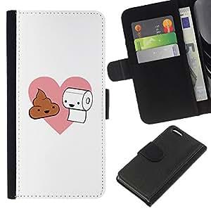 Stuss Case / Funda Carcasa PU de Cuero - Natural Love - Poop & Toilet Paper - Apple Iphone 5C