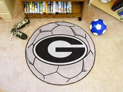 Rug Soccer Ball Georgia - Fan Mats Georgia Soccer Ball Rug, 29