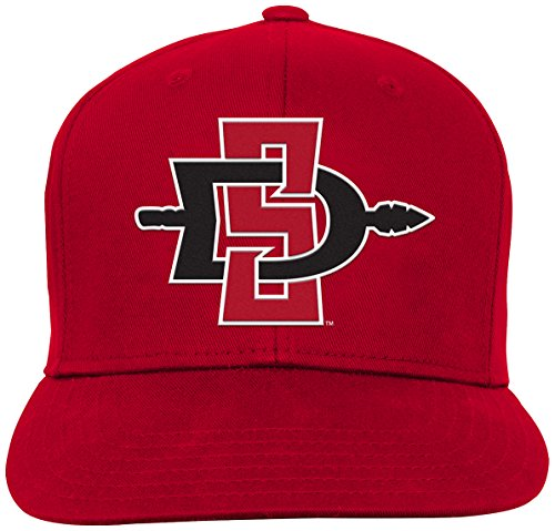 San Diego State Aztecs Baseball - NCAA by Outerstuff NCAA San Diego State Aztecs Youth Boys Team Flat Visor Snapback Hat, Red, Youth One Size