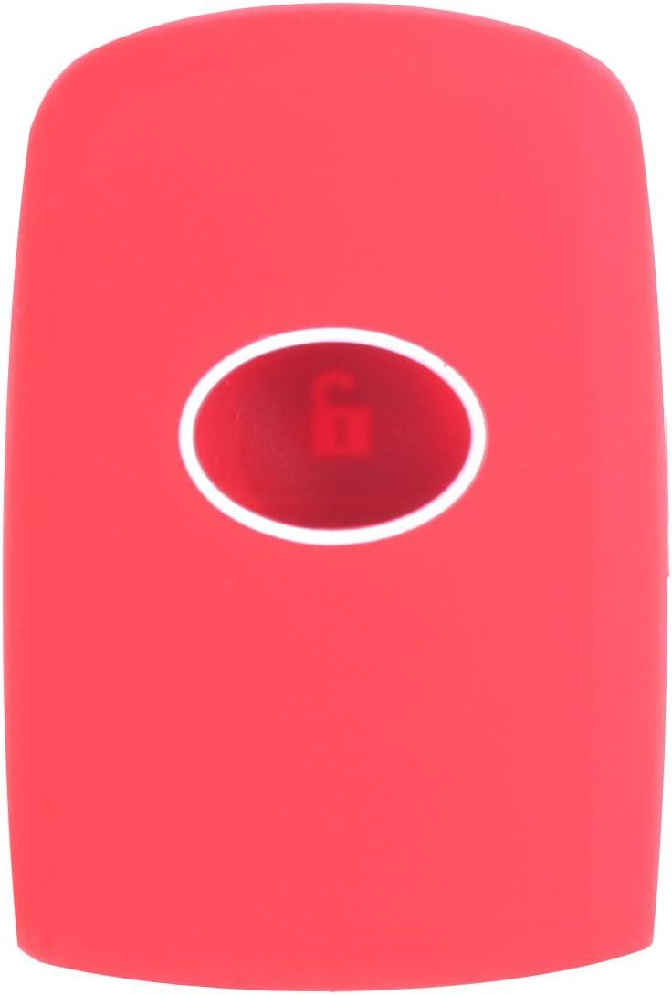 WERFDSR Sillicone key fob Skin key Cover Keyless Entry smart Remote Case Protector Shell for 2012 2013 2014 2015 2016 TOYOTA Avalon Camry Corolla Highlander RAV4 Blue
