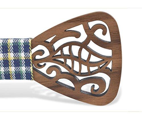 or Creative Wear Wedding Bow Wooden Handcrafted KOOWI Tie Daily Men's for Handmade Wood F Necktie PxBZqwAw