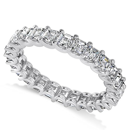 Allurez Radiant-Cut Diamond Eternity Wedding Band Ring in 14k White Gold (2.60ct) Radiant Cut Diamond Eternity Band