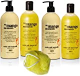 BRUBAKER Happiness My Mango Moments 5 Pcs Beauty Gift Set. Shower Gel, Body Milk Sponge – Made in GERMANY! Review