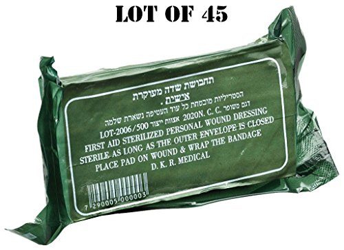 Price comparison product image LOT 45 IDF sealed Trauma Israeli Bandage Field Emergency Army Military IFAK 2021