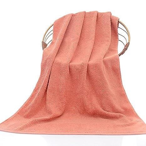 ZHFC Puro algodón toalla de baño Soft adulto hotel hotel plain towel multicolor opcional 70 * 140 1,El cinabrio,70 * 140: Amazon.es: Hogar