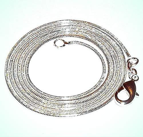 - Snake Chain 1.2mm Silver-Plate Lobster Clasp Necklace For Women 30