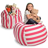 Creative QT Stuffed Animal Storage Bean Bag Chair - Extra Large Stuff 'n Sit Organization for Kids Toy Storage - Available in a Variety of Sizes and Colors (38