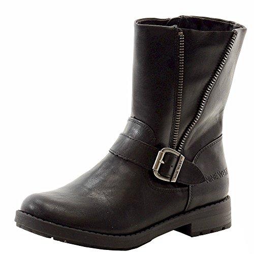 Nine West Melba Ankle Height Pull On Boot (Little Kid/Big Kid), Black, 2 M US Little - West Kids Boots Nine