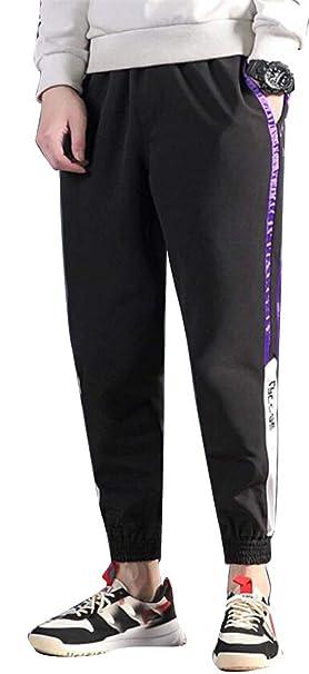 d32efcce009ac4 XiaoTianXinMen XTX Men Plus Size Color Block Sport Jogger Pants Trousers  Drawstring Elastic Waist Casual Pants