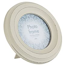 Innova Editions Casa Circular, MDF Picture/Photo Frame, 12.5cm Diameter, Maggiore II, White by Innova Editions