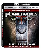 Planet of the Apes Trilogy (4K UHD + BD + Digital HD) [Blu-ray]
