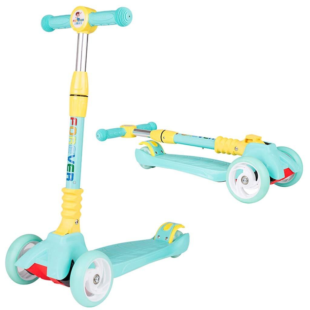 日本最大級 男の子/女の子 年齢2-6/子供/子供のためのTバーBobbi板が付いている軽量3の車輪の傾きそして回転折る蹴りのスクーター Green - 年齢2-6 (色 : Green) B07PSD5W6C Green B07PSD5W6C, モダンインテリア ロココ:90a1760c --- senas.4x4.lt