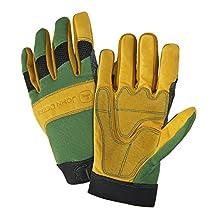 John Deere JD00009 Grain Cowhide Leather Gloves, XL