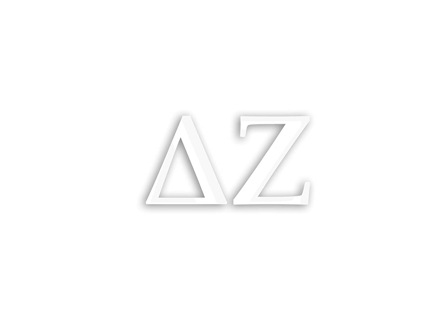 Officially Licensed Delta Zeta 6 x 3 Window Decal mal00209 White Mallory Holle Inc