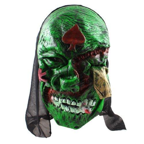 Símbolo do Coração Rosto Borracha Máscara Halloween Party Props Vermelho Preto Verde