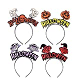 DECORA 4 Pack Halloween Letters Bouncy Bopper headbands Scary Halloween Party Accessories for Toddlers, Girls and Women