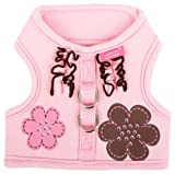 Pinkaholic New York Choco Mousse Harness for Dogs, Pink, Medium, My Pet Supplies