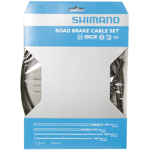 Set Black Housing - SHIMANO PTFE Road Brake Cable and Housing Set (Black)