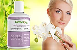 Retseliney Antioxidant Witch Hazel Alcohol-free Facial Toner with Green Tea & Aloe Vera, Best Organic & Natural Anti Aging Skin Toner for Face, Vegan, Reduces Fine Lines & Wrinkles from Retseliney
