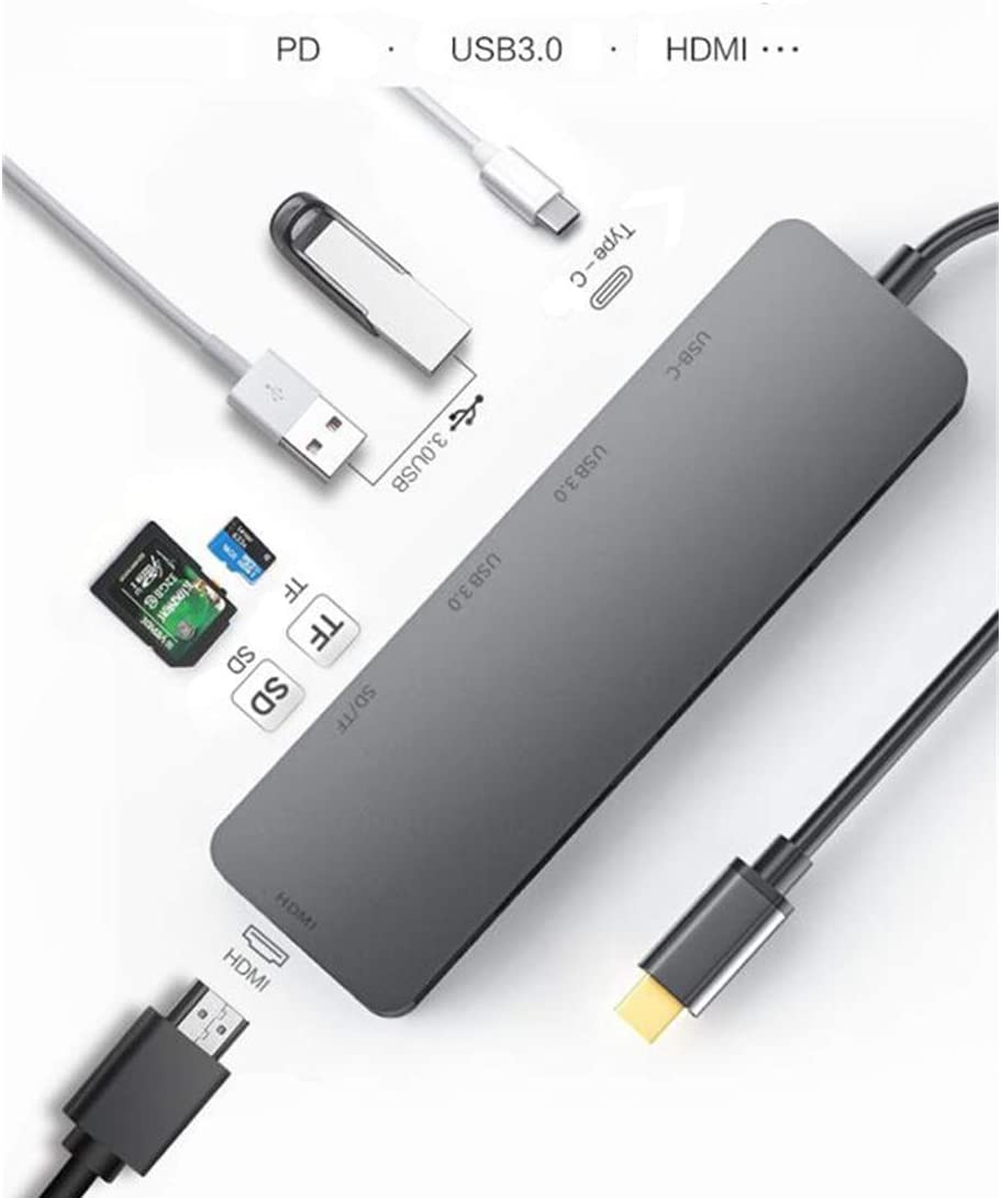 MacBook Pro and Other Type C Devices SD//TF Port for Mac PD AKK USB C Hub 4K HDMI Adapter 6 in 1 2 USB 3.0 Power Delivery Fast Charging