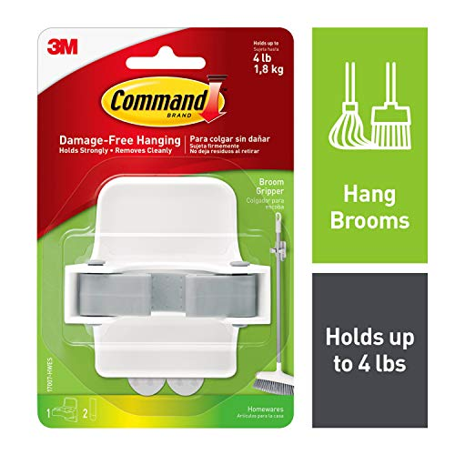 Command Broom Gripper, Holds up to 4 lbs (17007-HWES)