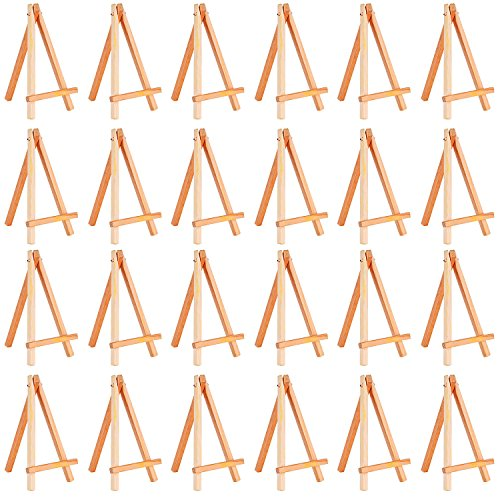 eBoot 24 Pack Mini Wood Display Easel (6.25 Inch)