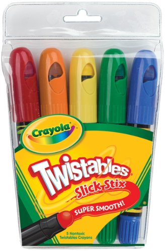 Crayola Twistables Slick Stix-5/Pkg 1 pcs sku# 655625MA -