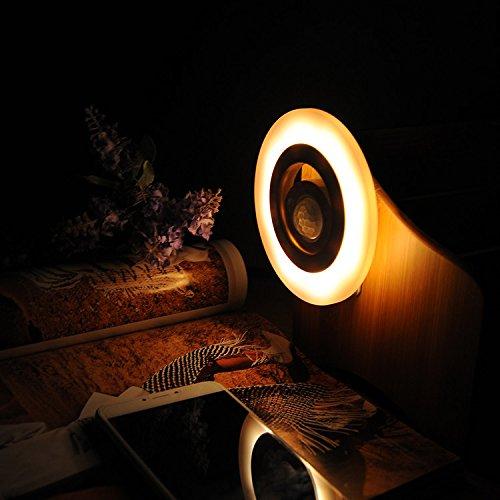 360度スマートモーションセンサーLED Nite Light for廊下、クローゼット、階段、寝室、nursery-white /ウォームホワイト Beisaqi001 B01L3V3P9W 16978  ウォームホワイト