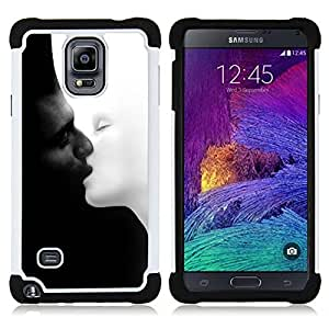 - black and white chernoe i/ H??brido 3in1 Deluxe Impreso duro Soft Alto Impacto caja de la armadura Defender - SHIMIN CAO - For Samsung Galaxy Note 4 SM-N910 N910