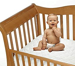 Snoozy Cotton Waterproof Crib Mattress Pad Featuring Safety Stay on Corners, 28\
