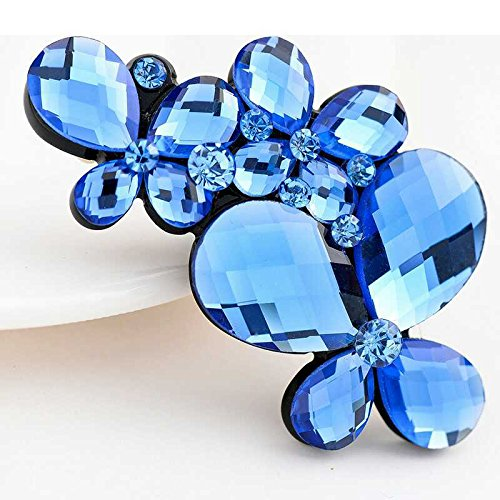 (usongs Korea crystal diamond hairpin spring clip headdress hair accessories women girls jewelry boutique wholesale supply Factory)