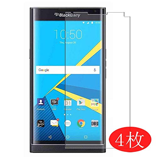 【4 Pack】 Synvy Screen Protector for BlackBerry Priv 0.14mm TPU Flexible HD Clear Case-Friendly Film Protective Protectors [Not Tempered Glass] New Version