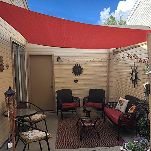 - Artouch Sun Shade Sail Canopy 7'x13' Terra Cover for Patio Outdoor, Rectangle Backyard Shade Sail for Garden Pool Playground