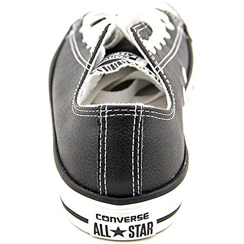 Converse Kid 's Chuck Taylor All Star Estacional Ox Fashion–Camiseta de zapatilla Black/White Leather