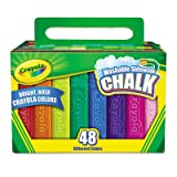 Washable Sidewalk Chalk, 48 Assorted Bright
