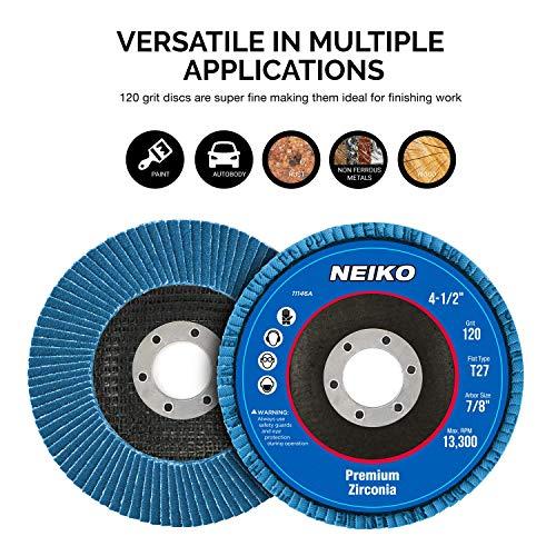 "50 Pack 4.5/"" x 7//8/"" Black Hawk 60 Grit Zirconia Flap Disc Grinding Wheels T27"