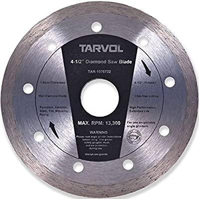 """4.5"""" Circular Diamond Saw Blade (HIGH PERFORMANCE - INDUSTRIAL GRADE) 7.5mm Width Diamond Materials - Perfect for Cutting Tile & Other Masonry Work"""