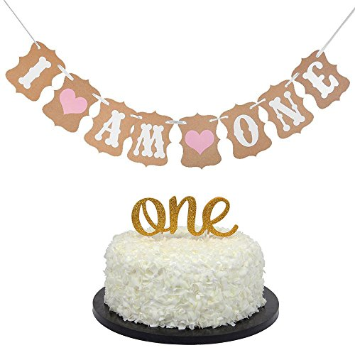 (Baby First Birthday Cake Topper Decoration -