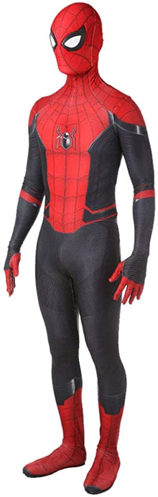 Bailu Halloween Superhero Cosplay Costume Unisex Spider Suit Dress Up Pretend Play Bodysuit