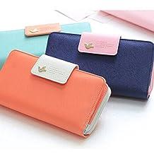 Changeshopping(TM)Birds Clutch Wallet Case Long Zip Button Card Purse Handbag