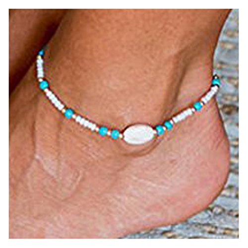 Simsly Beaded Anklet with Turquoise Beach Ankle Bracelets Chain For Women and Girls JL-0183 - Turquoise Ankle Bracelet Anklet