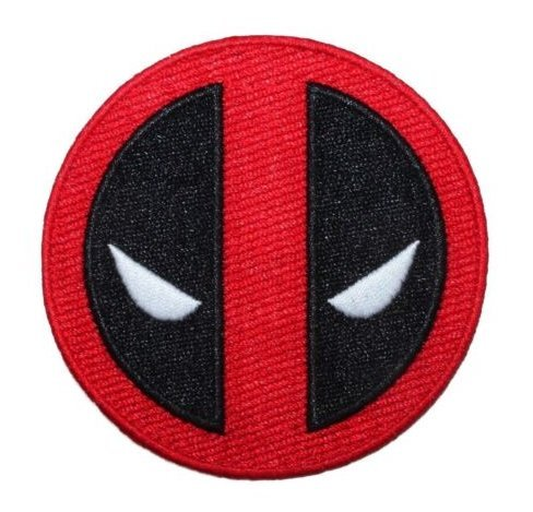 Deadpool Movie Logo Patch Marvel Superhero Character Face Mask Velcro Patch(GQ)