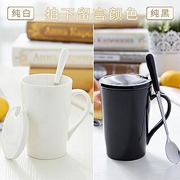 La cerámica Mugcap tendencia entrañable avena tazas adultos Cartoon Simple Continental encantador niños Geek Taza de café, el color puro - El Color ...