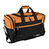 17' Blank Duffle Bag Duffel Bag Travel Size Sports Durable Gym Bag (Orange)