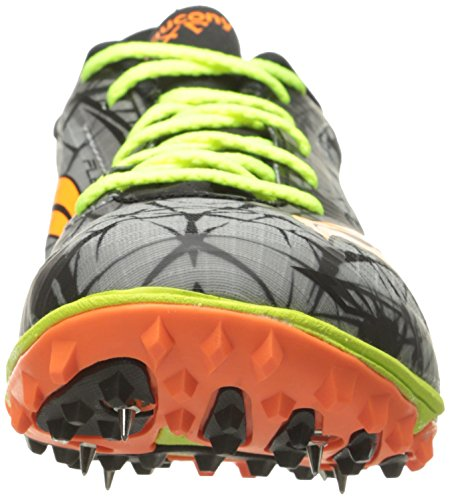 Saucony Mens Shay Xc4 Cross Country Race Schoen Vizi Oranje / Citron / Grijs