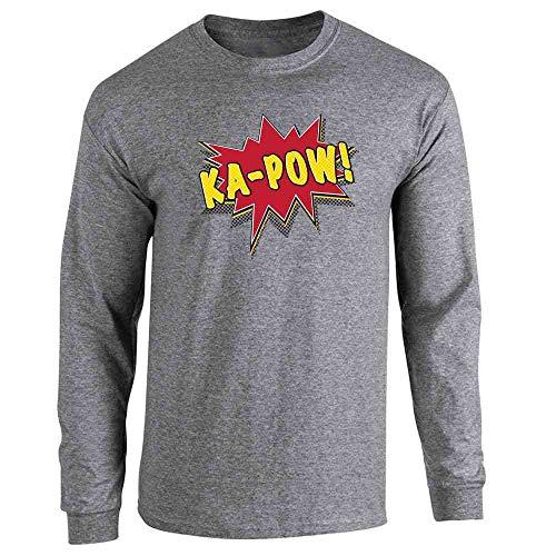 Huzzah Pop Art Graphite Heather 2XL Long Sleeve T-Shirt