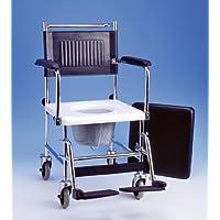 Cromado russka silla de ruedas con retrete