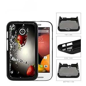 Strawberries With Water Splashing Hard Plastic Snap On Cell Phone Case Motorola Moto E
